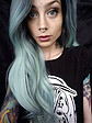 Mint Synthetic lace front wig