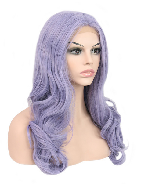 Lavender Synthetic lace front wig