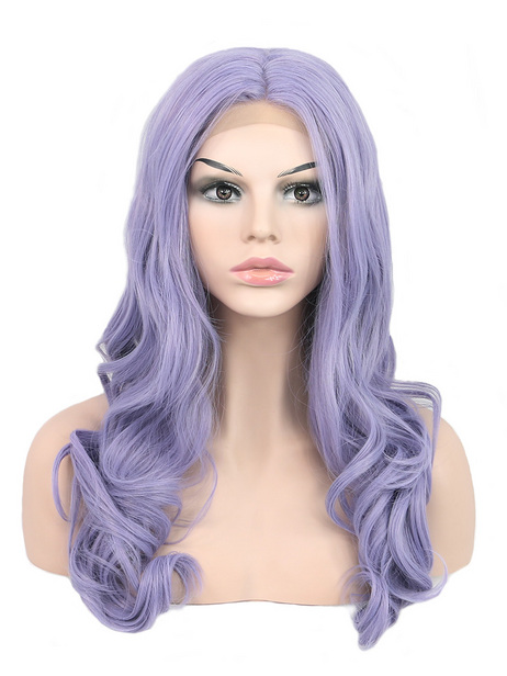 ( U.S. only ) Lavender Synthetic lace front wig