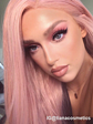 Lala mixed peach pink synthetic lace front wig