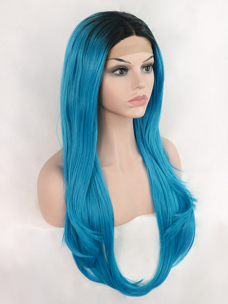 Aqua Blue Synthetic lace front wig