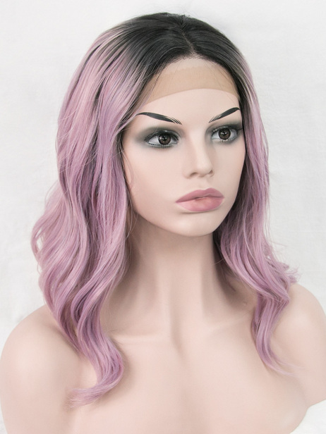 Coco purple body synthetic lace front wig