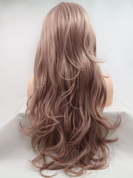 Dusky Rose synthetic lace front wig