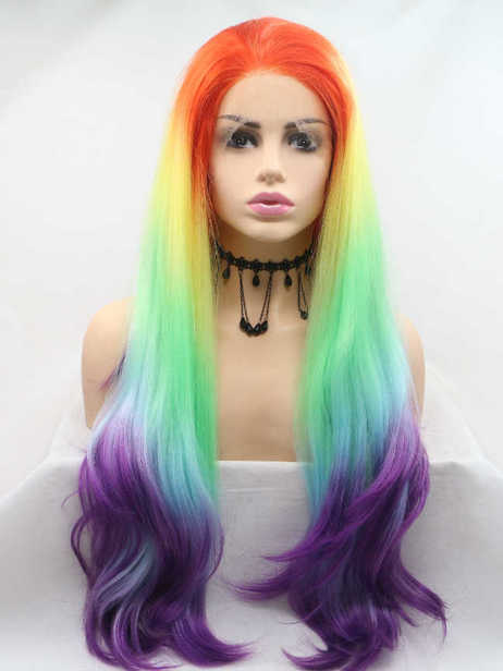 Rainbow Baby Synthetic lace front wig