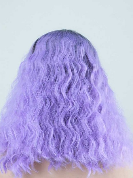 Lavender sky synthetic lace front wig