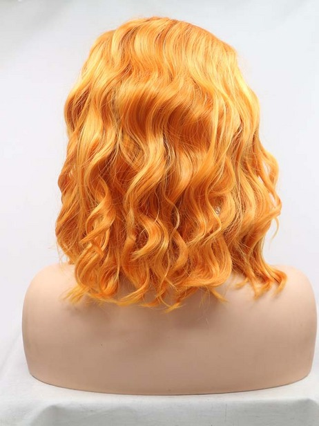 Sunset chrysanthemum  Synthetic lace front wig