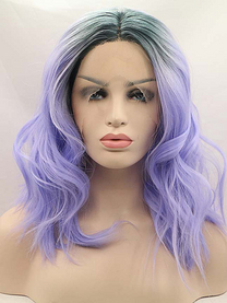 Purple Fairy  synthetic lace front wig