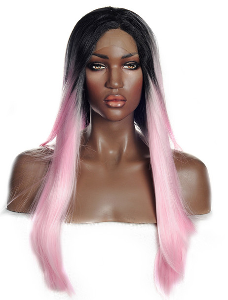 Lotus Pink Synthetic lace front wig