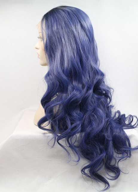 Blueberry    Synthetic lace front wig